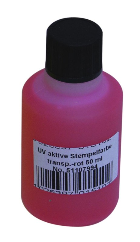 UV razítkovací barva 50 ml, červená