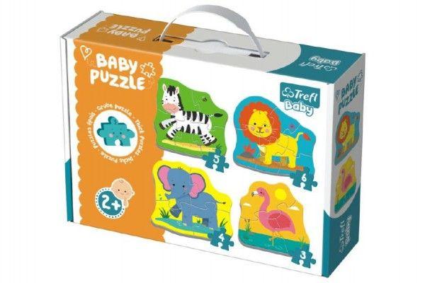 Puzzle baby Safari 4 ks v krabici 27 x 19 x 6 cm 2+