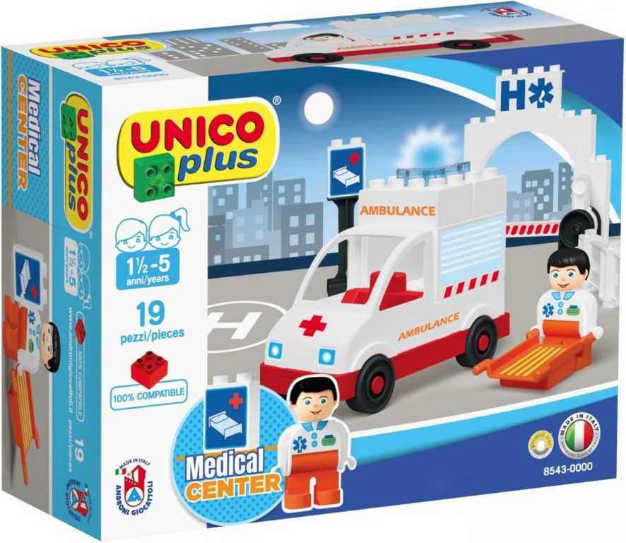 ANDRONI Unico baby Auto ambulance 19 dílků STAVEBNICE