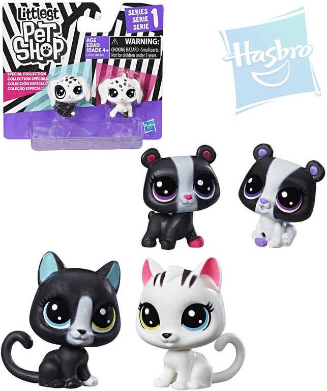 HASBRO LPS Littlest Pet Shop zvířátko černobílé 3cm set 2ks 3 druhy plast
