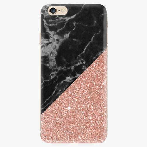 Silikonové pouzdro iSaprio - Rose and Black Marble - iPhone 6/6S