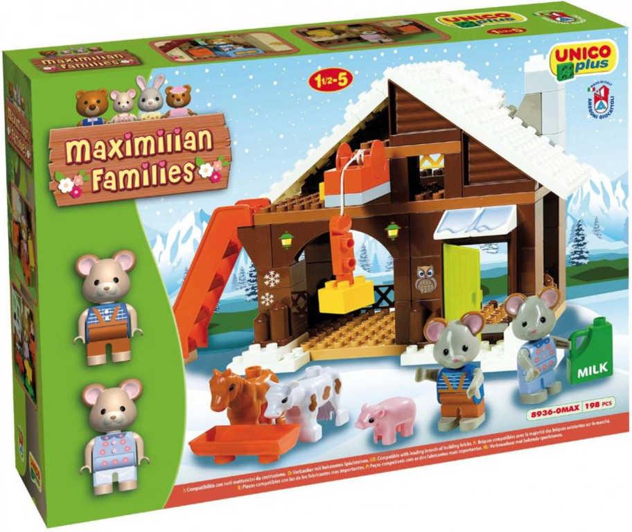ANDRONI Unico baby Maximilian Families Farma u myšek 95 dílků STAVEBNICE