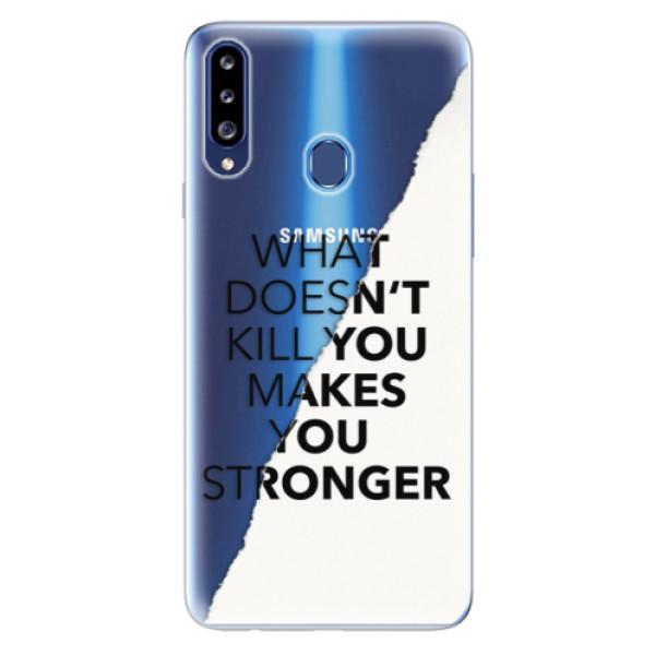 Odolné silikonové pouzdro iSaprio - Makes You Stronger - Samsung Galaxy A20s