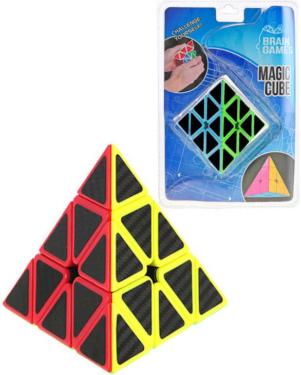 Hra Pyramida skládací hlavolam 9,5cm kostka magická plast