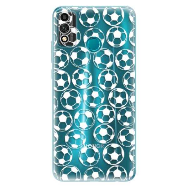 Odolné silikonové pouzdro iSaprio - Football pattern - white - Honor 9X Lite