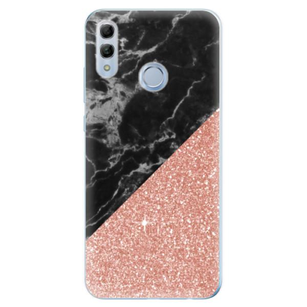Odolné silikonové pouzdro iSaprio - Rose and Black Marble - Huawei Honor 10 Lite