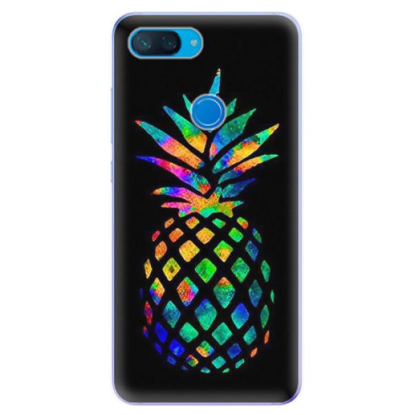 Odolné silikonové pouzdro iSaprio - Rainbow Pineapple - Xiaomi Mi 8 Lite