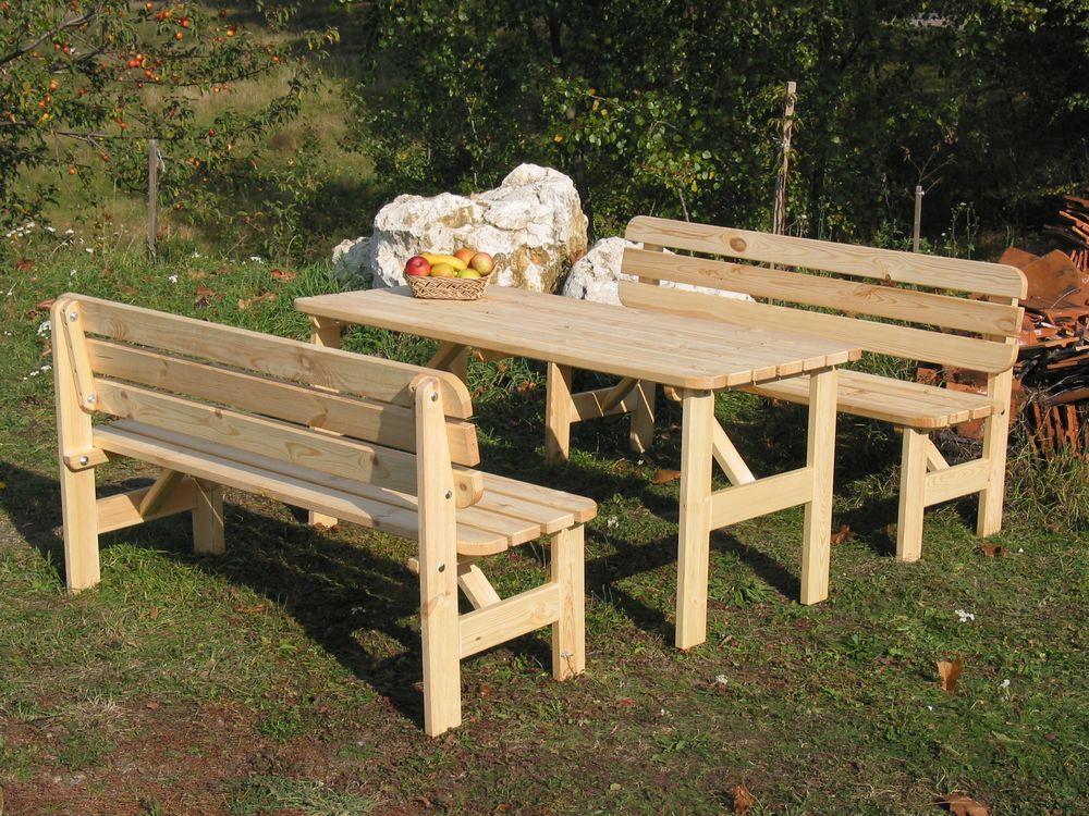 Zahradní dřevěný stůl VIKING - 150 cm