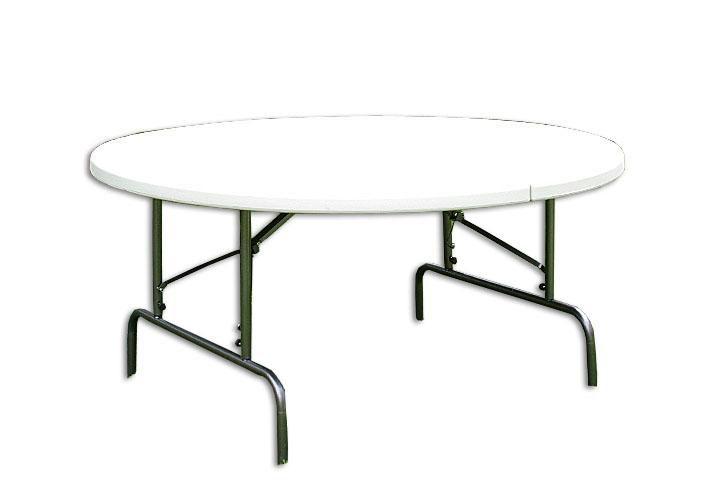 Skládací zahradní stůl - kulatý