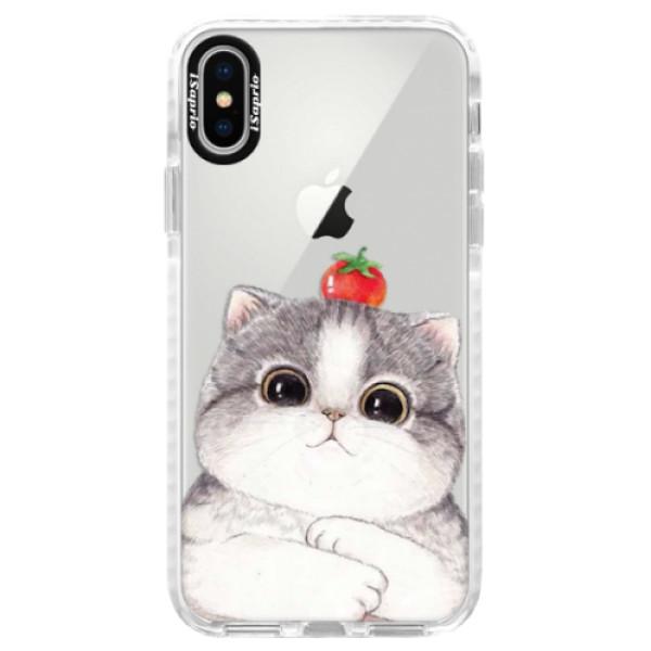 Silikonové pouzdro Bumper iSaprio - Cat 03 - iPhone X