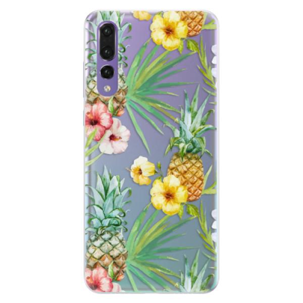 Silikonové pouzdro iSaprio - Pineapple Pattern 02 - Huawei P20 Pro