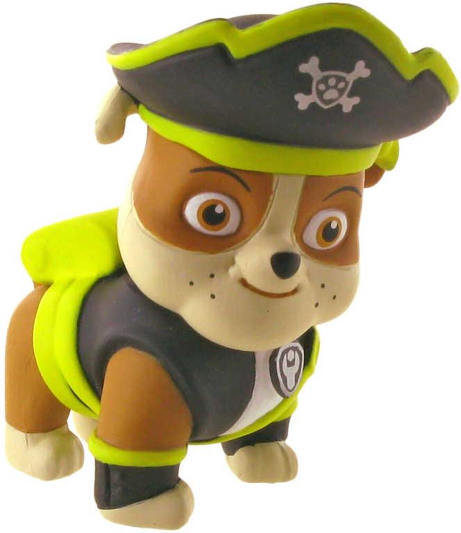 Tlapková patrola Figurka plastová 7cm pirát RUBBLE (Paw Patrol)