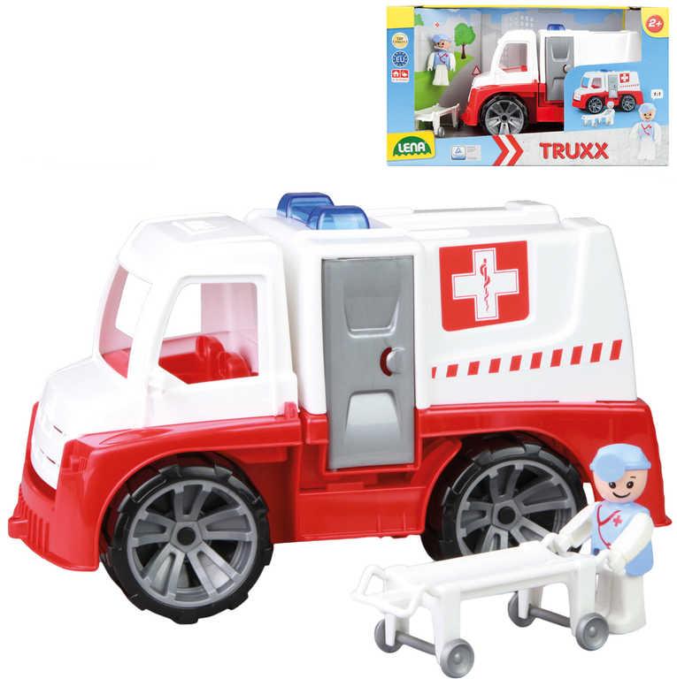 LENA Truxx Baby auto funkční sanitka 29cm set s figurkou plast v krabici