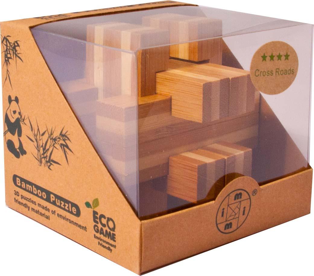 Bambusový hlavolam - Kříž