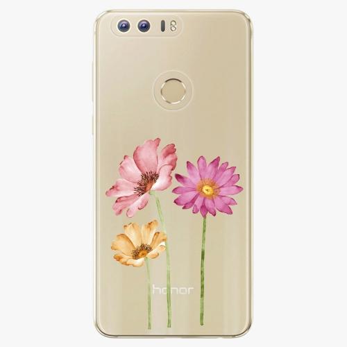 Plastový kryt iSaprio - Three Flowers - Huawei Honor 8