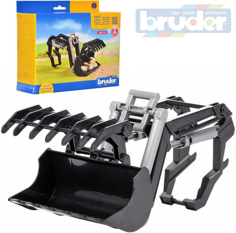 BRUDER 02317 Nakladač čelní s drapákem náhradní díl k traktoru plast
