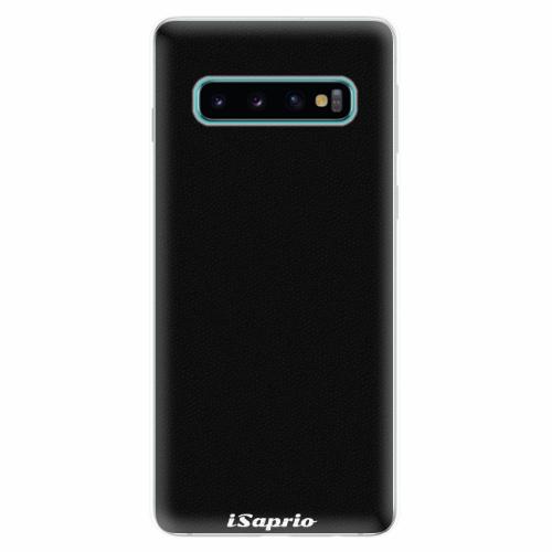 Silikonové pouzdro iSaprio - 4Pure - černý - Samsung Galaxy S10