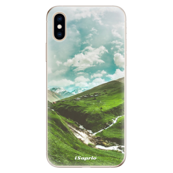 Odolné silikonové pouzdro iSaprio - Green Valley - iPhone XS