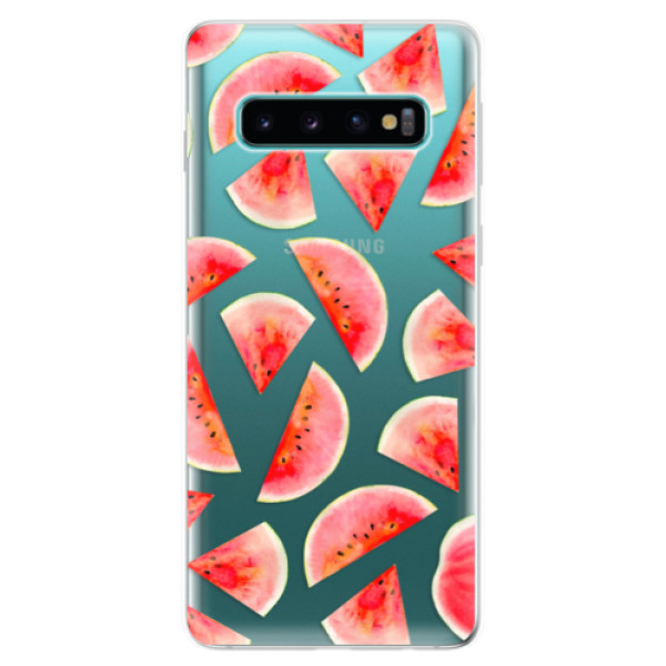 Odolné silikonové pouzdro iSaprio - Melon Pattern 02 - Samsung Galaxy S10