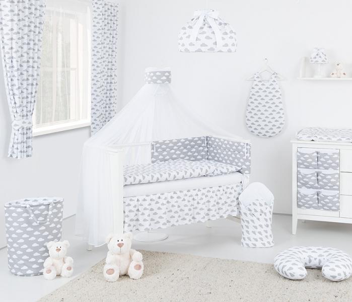 Mamo Tato Box na hračky - oboustranný, mráček bílý / mráček šedý