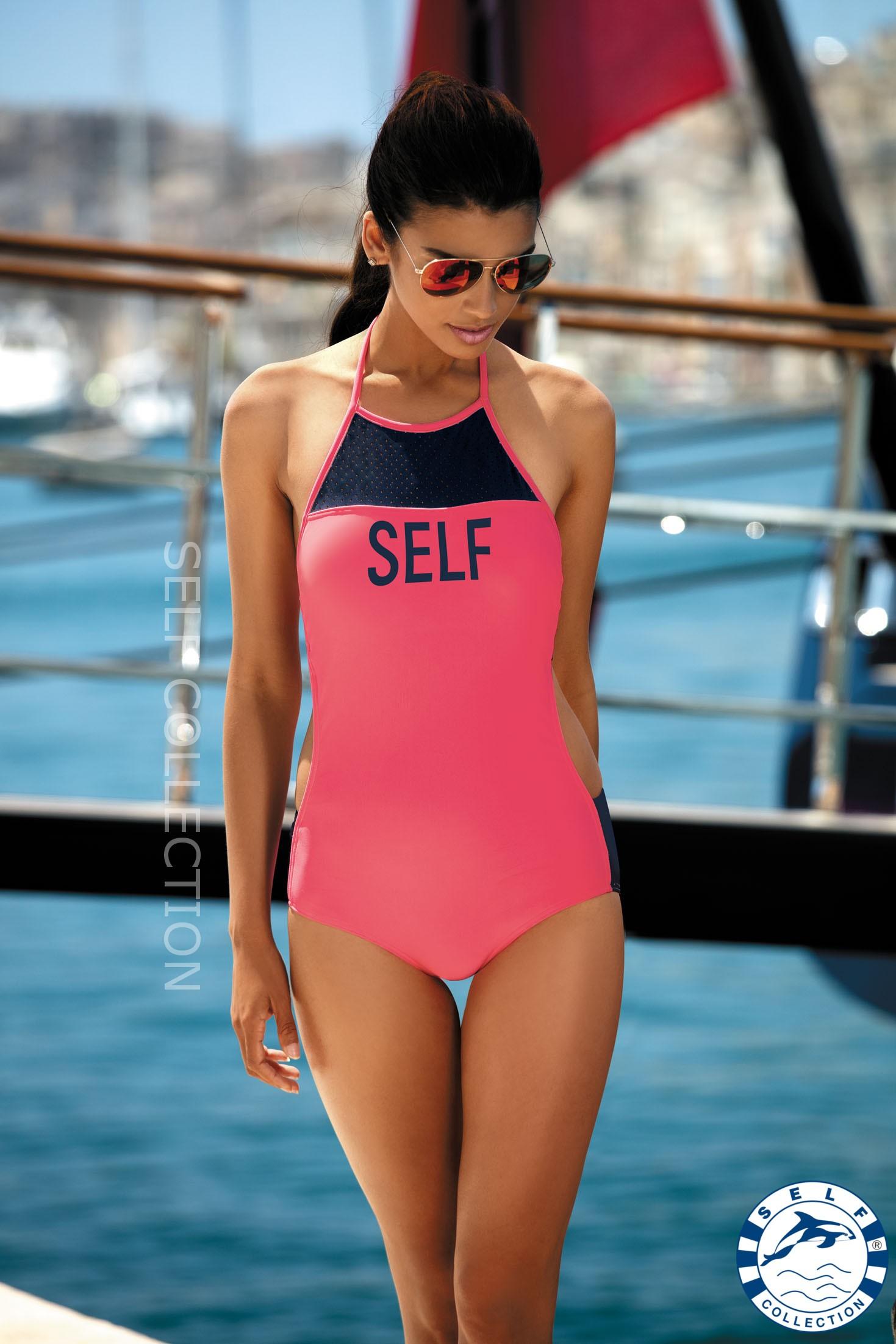 Dámské jednodílné plavky S45 - Self - Granátová/38/M