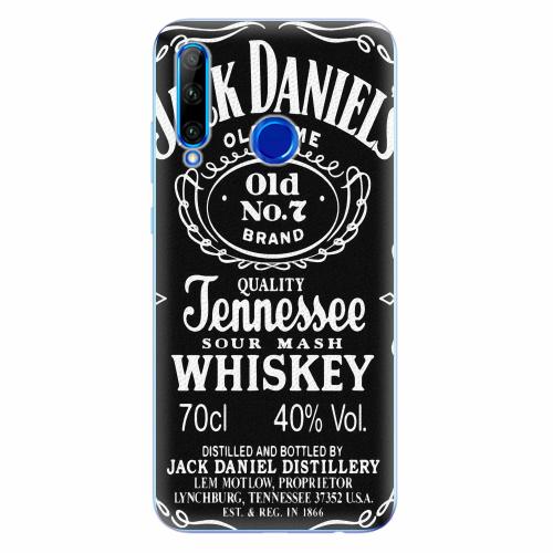 Silikonové pouzdro iSaprio - Jack Daniels - Huawei Honor 20 Lite