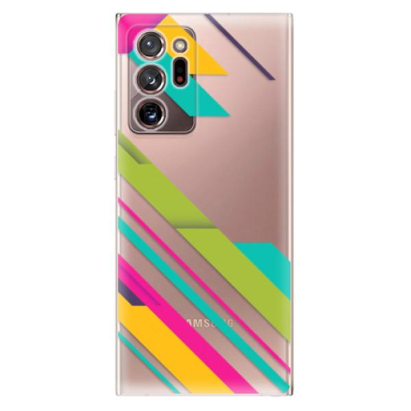 Odolné silikonové pouzdro iSaprio - Color Stripes 03 - Samsung Galaxy Note 20 Ultra