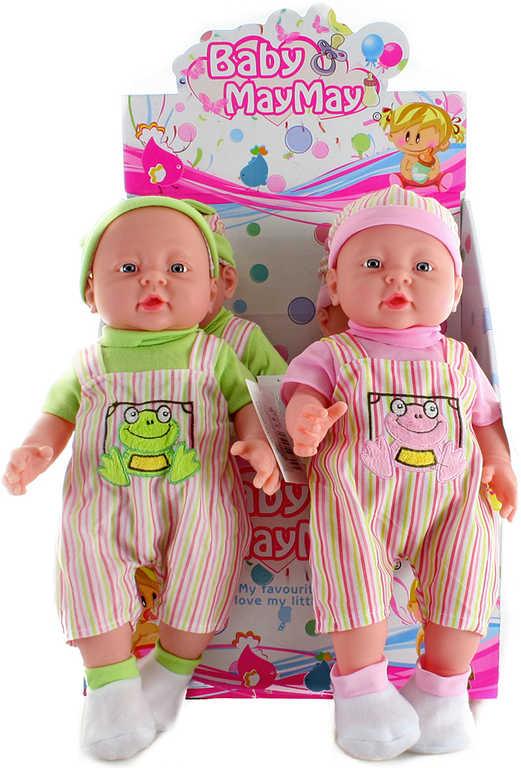 Panenka miminko velké tvrdé tělíčko pruhovaný obleček 2 barvy