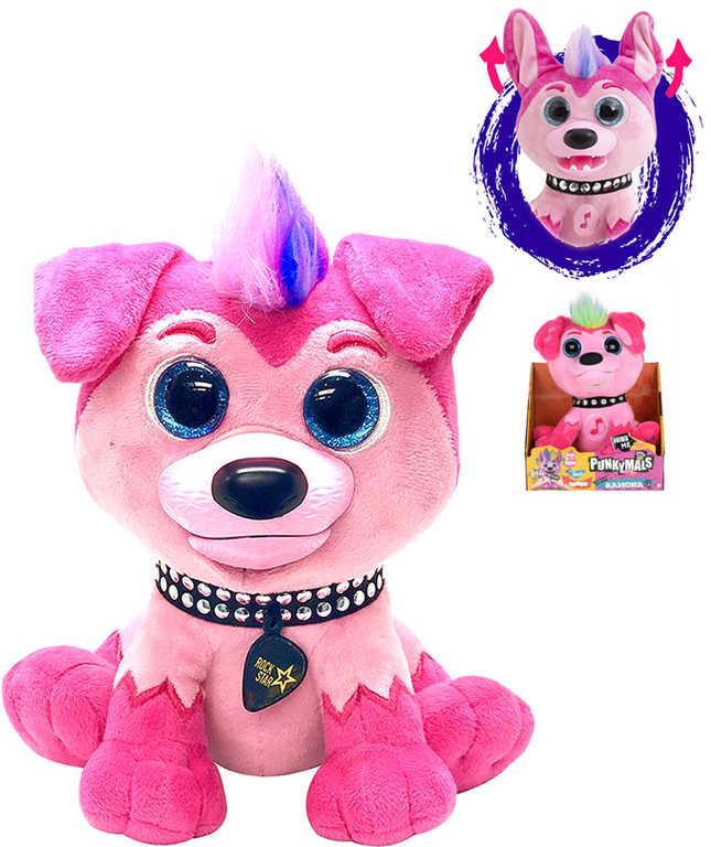 PLYŠ Zvířátko Punkymals Ramona 21cm smějící se pes na baterie Zvuk