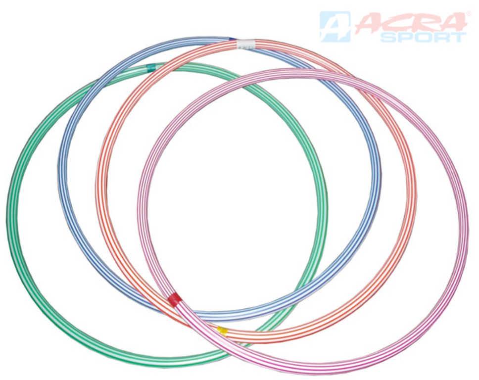 ACRA Obruč hula hop 50cm dětský fitness kruh 4 barvy