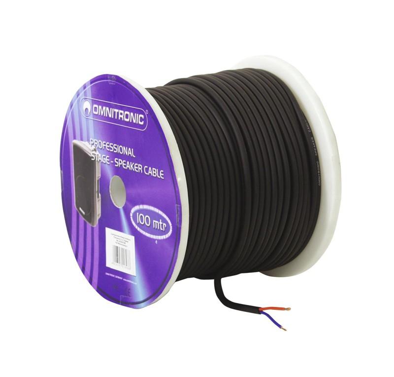 Kabel reproduktorový, 2x 1,5qmm, černý, cena / m