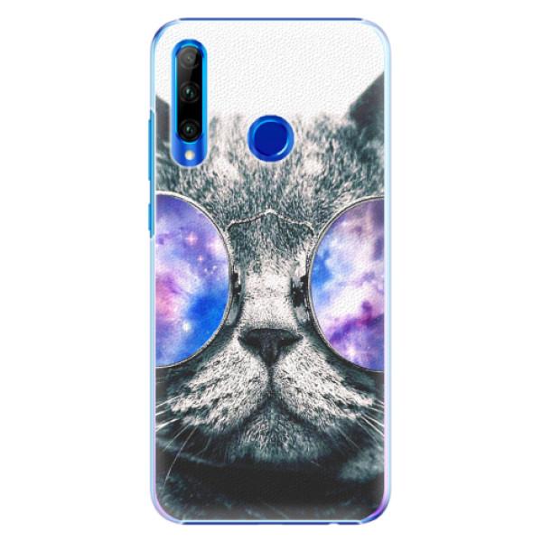 Plastové pouzdro iSaprio - Galaxy Cat - Huawei Honor 20 Lite