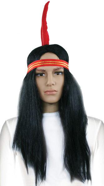 KARNEVAL Paruka Indián čelenka s pérem *KARNEVALOVÝ DOPLNĚK*