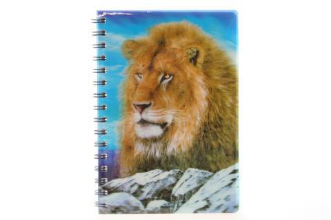 Zápisník A5 lev 3D