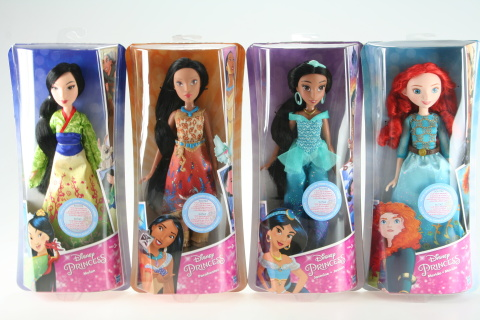 Disney Mulan, Merida, Pocahontas, Jasmin