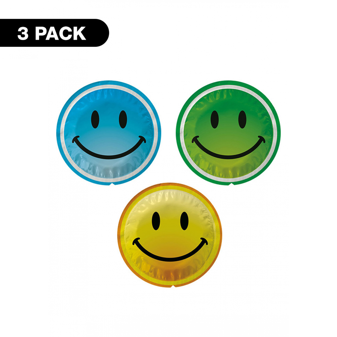 Kondomy Exs Smiley Face - 3 pack