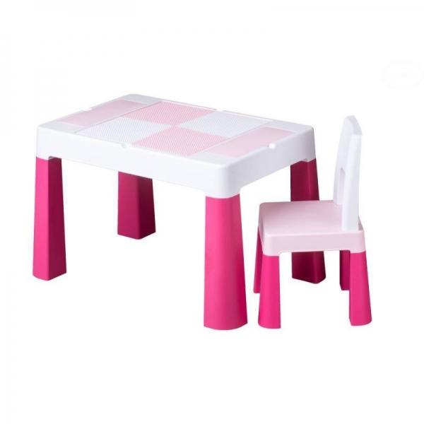 Sada nábytku pro děti Multifun - stoleček a židlička - růžová