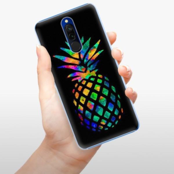Plastové pouzdro iSaprio - Rainbow Pineapple - Xiaomi Redmi 8