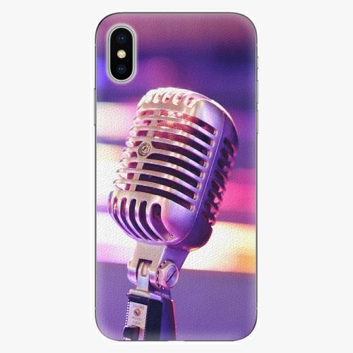 Plastový kryt iSaprio - Vintage Microphone - iPhone X