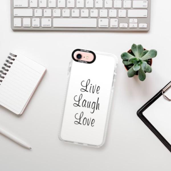 Silikonové pouzdro Bumper iSaprio - Live Laugh Love - iPhone 7
