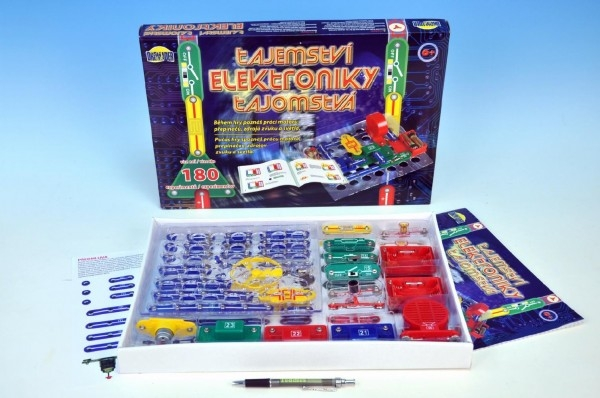 Tajemství elektroniky 180 experimentů na baterie v krabici 42x28,5x4cm od 6 let