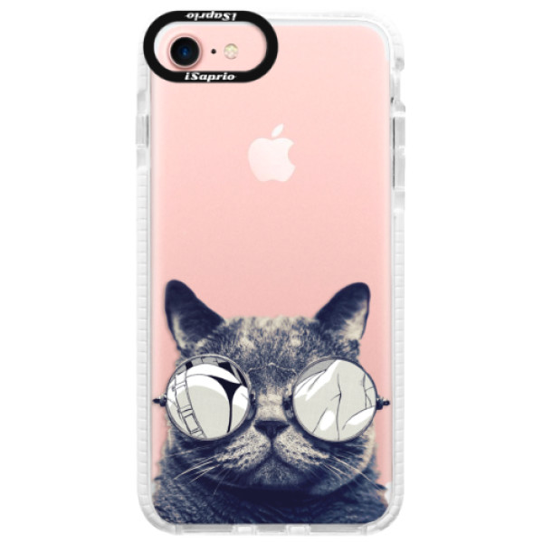 Silikonové pouzdro Bumper iSaprio - Crazy Cat 01 - iPhone 7