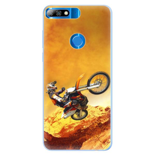 Silikonové pouzdro iSaprio - Motocross - Huawei Y7 Prime 2018
