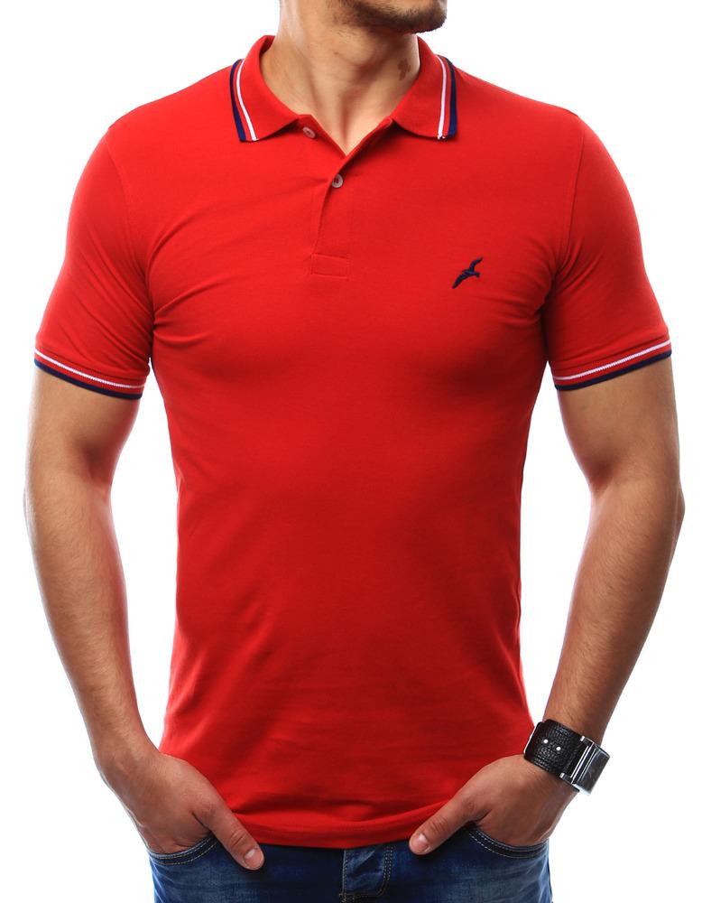 Pánské triko polo (px0109) - Gabbiano bianco - Červená/XL