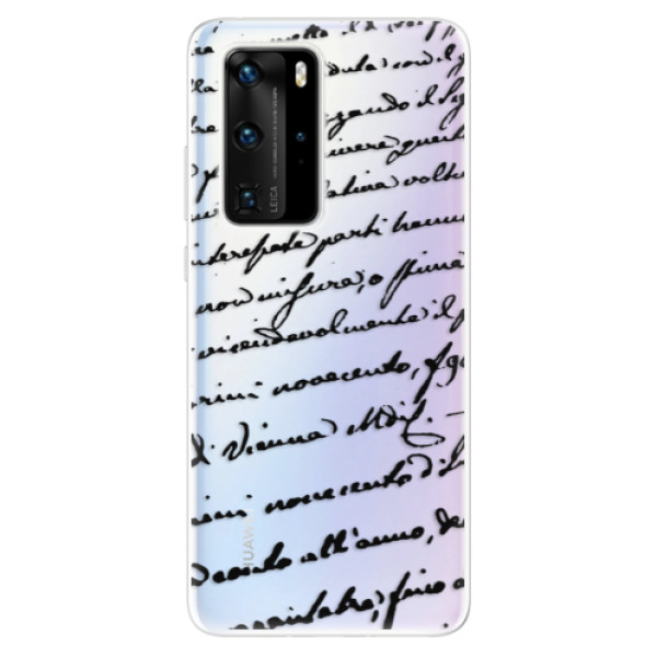 Odolné silikonové pouzdro iSaprio - Handwriting 01 - black - Huawei P40 Pro