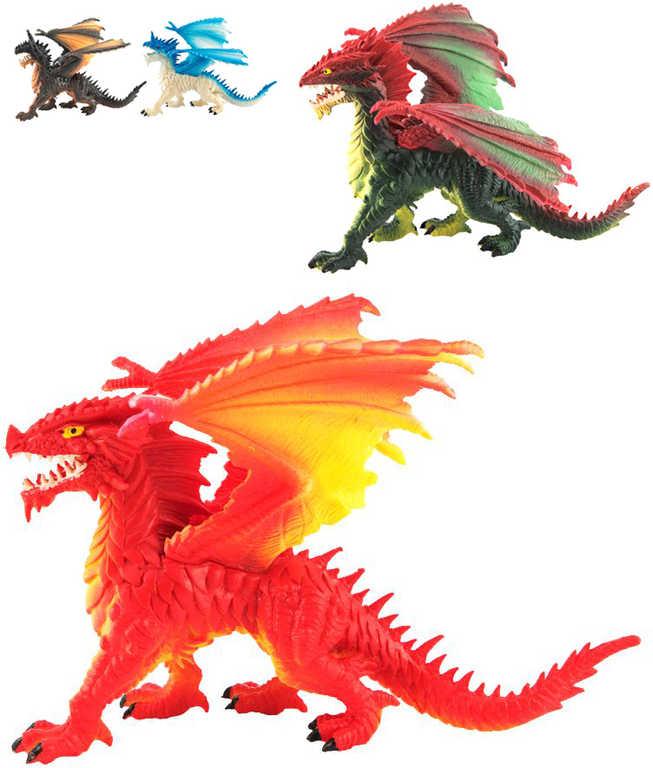 Drak 20cm figurka akční plastová 4 druhy