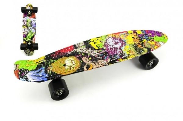 skateboard-pennyboard-60cm-nosnost-90kg-potisk-barevny-cerne-kovove-osy-cerna-kol