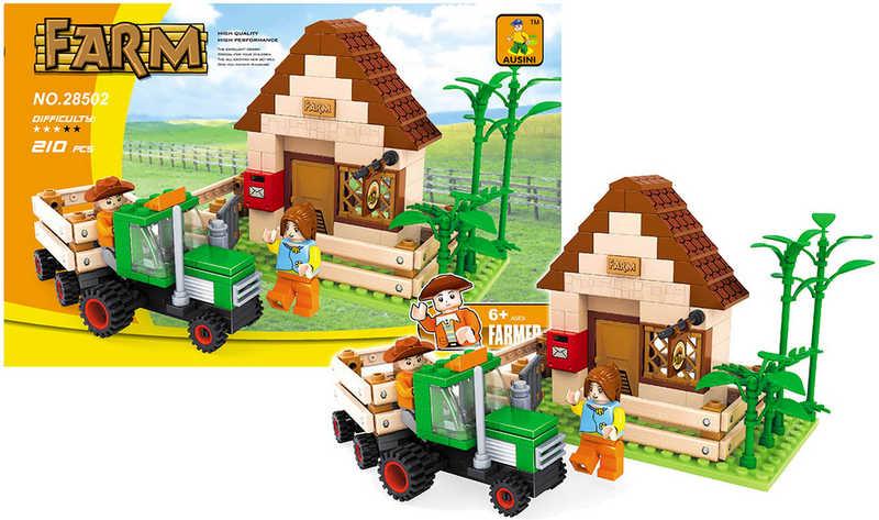 Stavebnice set farma a traktor 210 dílků