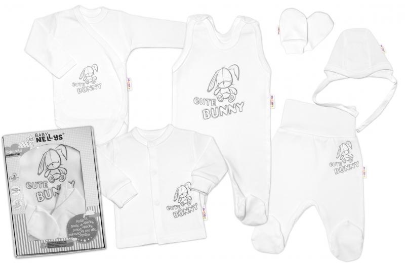 baby-nellys-velka-sada-do-porodnice-cute-bunny-6-ti-dilna-v-krabicce-bila-50-0-1m
