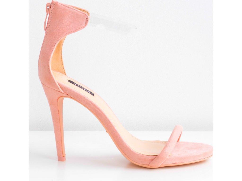 Dámské sandály na podpatku 5075 - Vices - Staro růžová/36